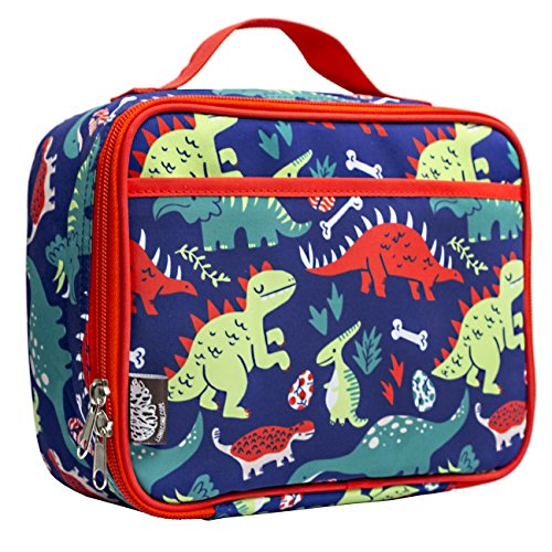 LONE CONE Kids' Insulated Fabric Lunchbox, Snack-O-Saurus