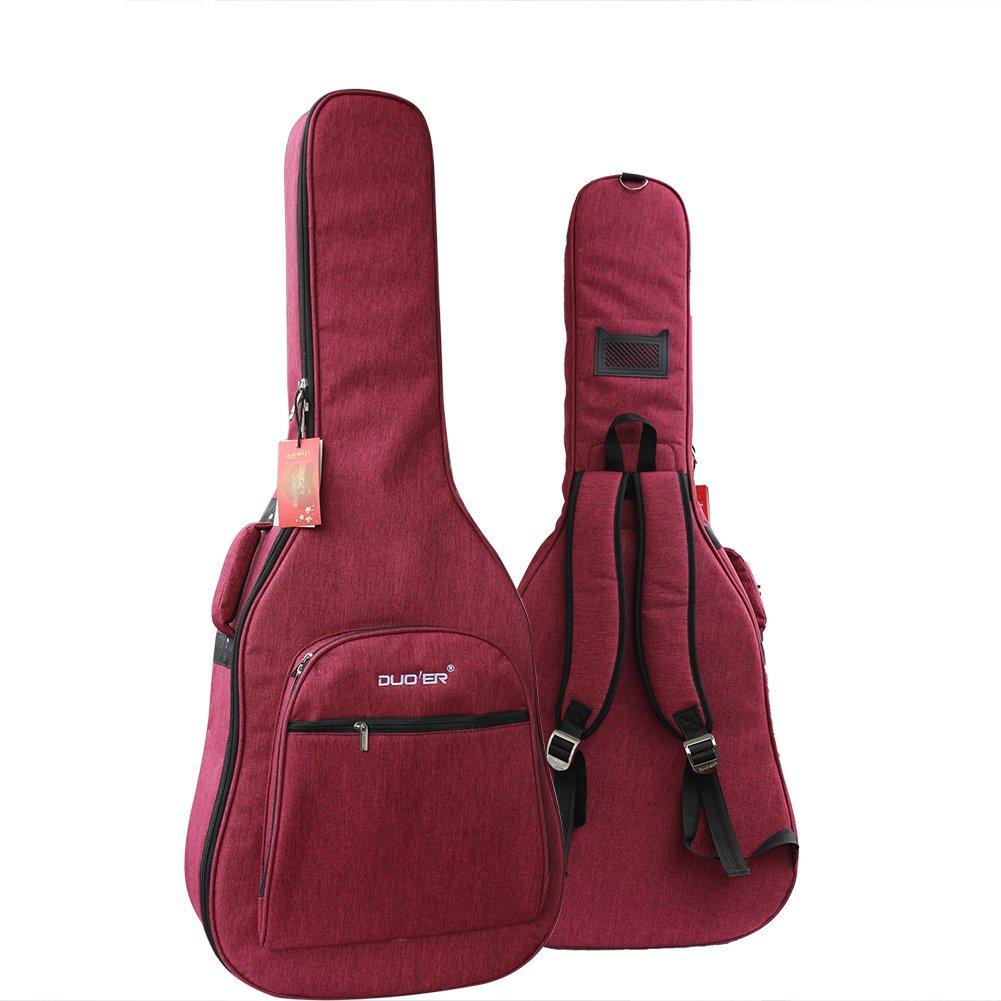 Eleoption Waterproof Oxford Guitar Bag 41 42 Inch Case Nylon Gig Bag Padded Electric Guitar Bag Acoustic and Classical Guitars Waterproof Shockproof (Gray)