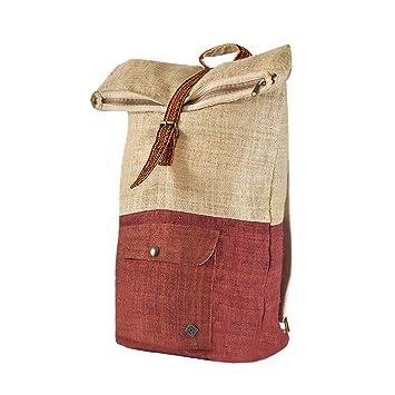 virblatt Mochila de Viaje Mochila rolltop cáñamo Bolso de Espalda Mujer - Klassisch: Amazon.es: Equipaje