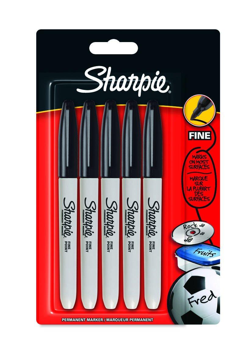 Sharpie - Juego de rotulador (5 unidades, tinta negra)