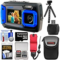 Coleman Duo 2V9WP Dual Screen Shock & Waterproof Digital Camera (Blue) with 16GB Card + Case + Float Strap + Flex Tripod + Kit At A Glance Review Image