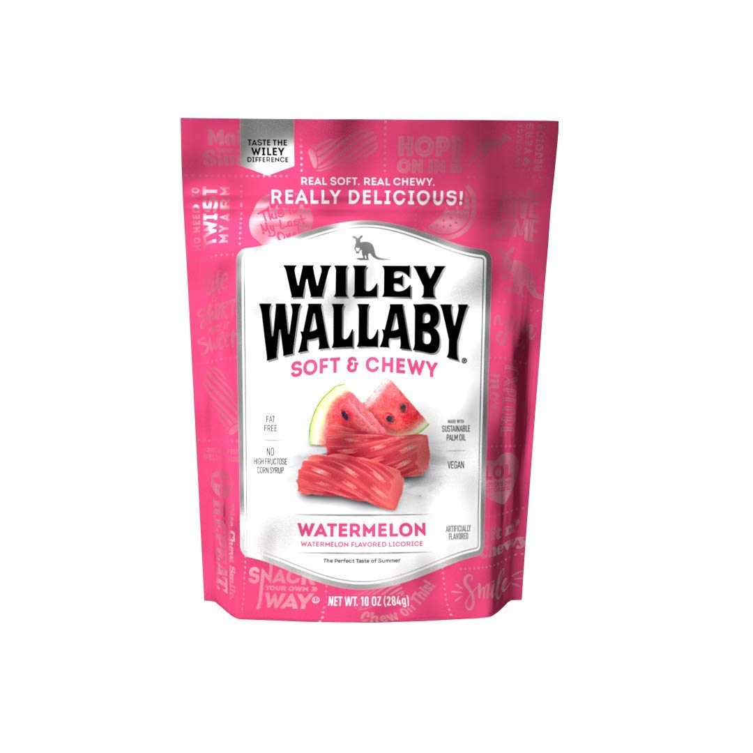 Wiley Wallaby Australian Style Licorice Candy, 10 oz, 1 Count (Watermelon)