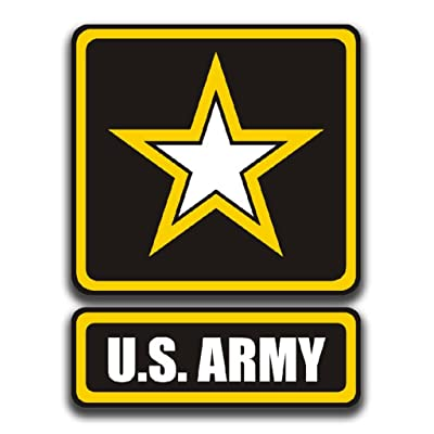 KCD U.S. Army Printed Vinyl Decal Sticker|Cars Trucks Vans Walls Laptops Cups|Full Color|5.5 in|KCD899: Automotive