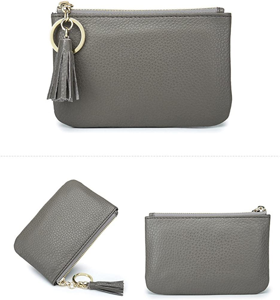 Aladin Wide Coin Change Purse Wallet with Key Ring /& Leather Tassels Zip Tab