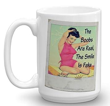 Novelty boob mug