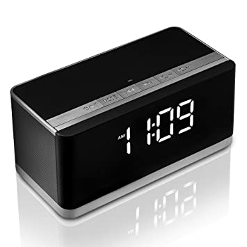 Amazoncom Bluetooth Speaker With Alarm Clock RadioXPLUS - Clever magnetic wall clock charges phone wirelessly