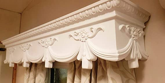 Curtain Box Valance Pelmet Window Cornice Swag Crown Canopy Cover Victorian 5 Feet 60 Inches 1524cm X 18 5cm X 18 5 Cm Easy Fit Amazon Co Uk Kitchen Home