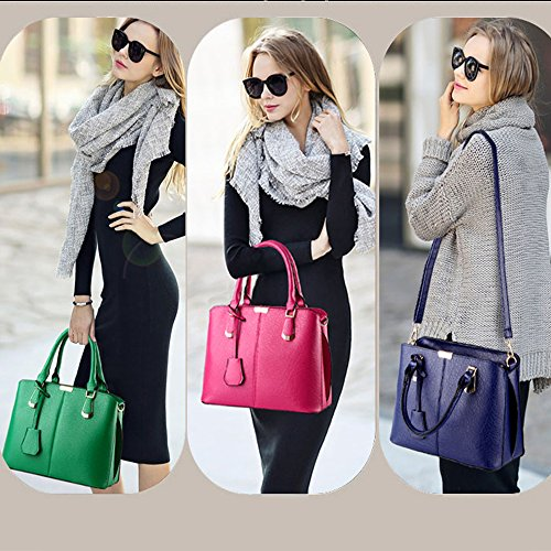 FiveloveTwo and Shoulder Handle Tote Satchel Purse Handbag Bags Purse Top Womens Green qrxqgHnwFf