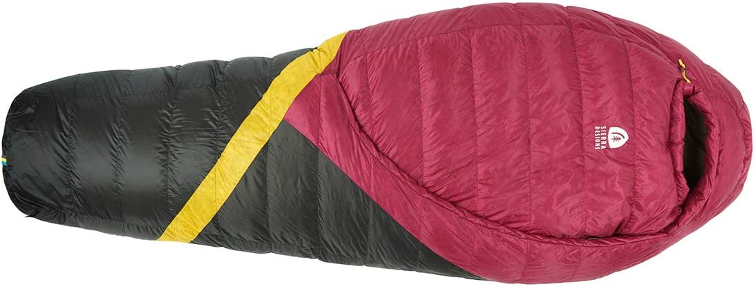 Sierra Designs Cloud 20 Degree DriDown Sleeping Bag Ultralight Zipperless Down Sleeping Bag for Backpacking and Camping