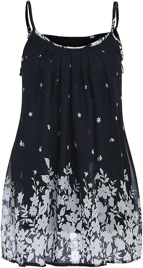 Soupliebe Sommerkleid Damen Blumenkleid Kleider Frauen Beil/äufige Hosentr/äger Kleid Sling Lose Kleid Minikleid Partykleid