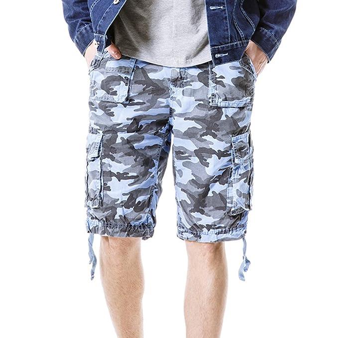 ed42d52591a57 Moollyfox Hombre Camuflaje Bermuda Deporte Multi Bolsillos Pantalón Cortos   Amazon.es  Ropa y accesorios