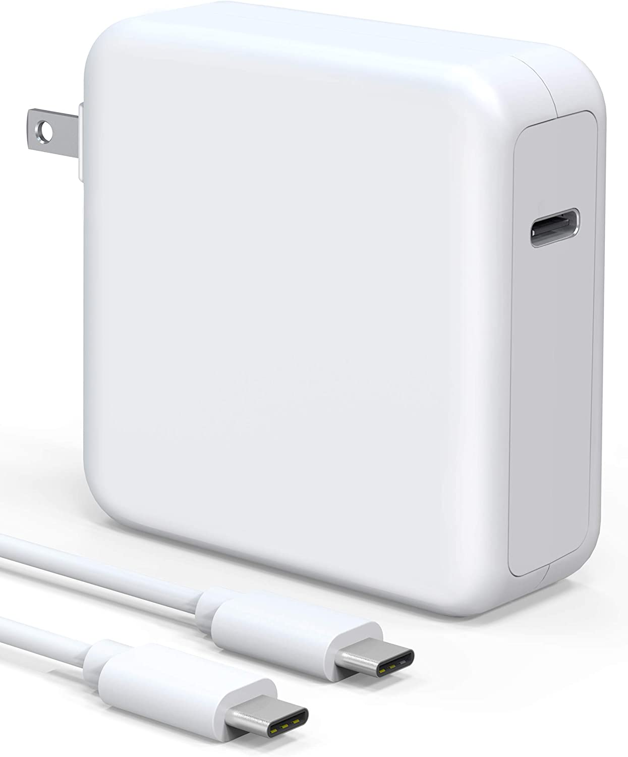 """TISSYEE 96W USB-C Power Adapter, Power Delivery Fast Charging for MacBook Pro 13'' 15'' 16"""" 2016Late Mac Air 2018Late,for USB C 96W & 87W & 61W & 30W & 29W PD Power"""