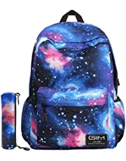 Global I Mall Unisex Galaxy School Backpack Canvas Rucksack Laptop Book Bag  Satchel Hiking Bag dc648f5fd49fd