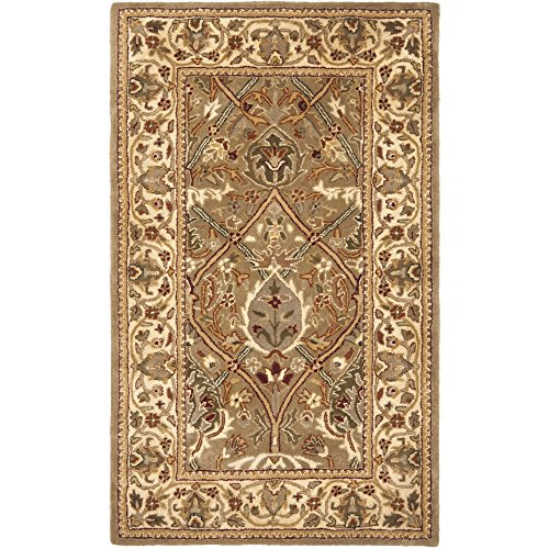 Safavieh Persian Legend Collection PL819A Handmade Traditional Light Green and Beige Wool Area Rug (3' x 5') (Beige Persian Wool Rug)