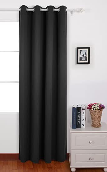 Curtains Ideas black window curtain : Amazon.com: Deconovo Black Thermal Insulated Blackout Panel ...