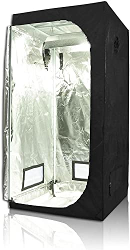 LAGarden 31 x31 x63 100 Reflective Diamond Mylar Hydroponics Indoor Grow Tent Non Toxic Planting Room Window Cabine