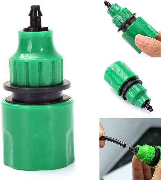 EMVANV manguera de agua de jardín conector rápido manguera de riego conectar tubo de acoplamiento para 4/7 mm 8/11 mm Micro manguera: Amazon.es: Hogar