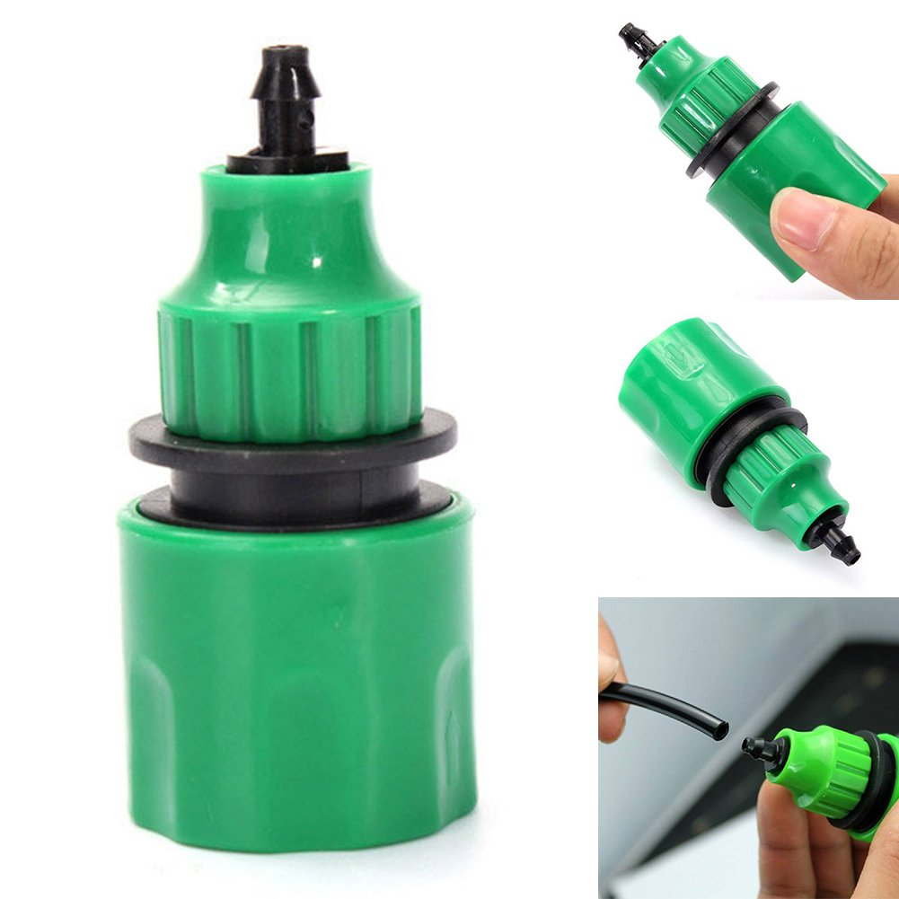 Garden Water Hose Quick Connector Fitting For 4/7mm 8/11mm Micro Hose, Good Sealing, Easy to Use UxradG