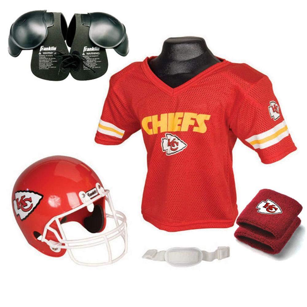 6d1c7deb14 Amazon.com : FRANKLIN SPORTS Kansas City Chiefs Youth Nfl Ultimate Helmet  And Jersey Set : Beauty