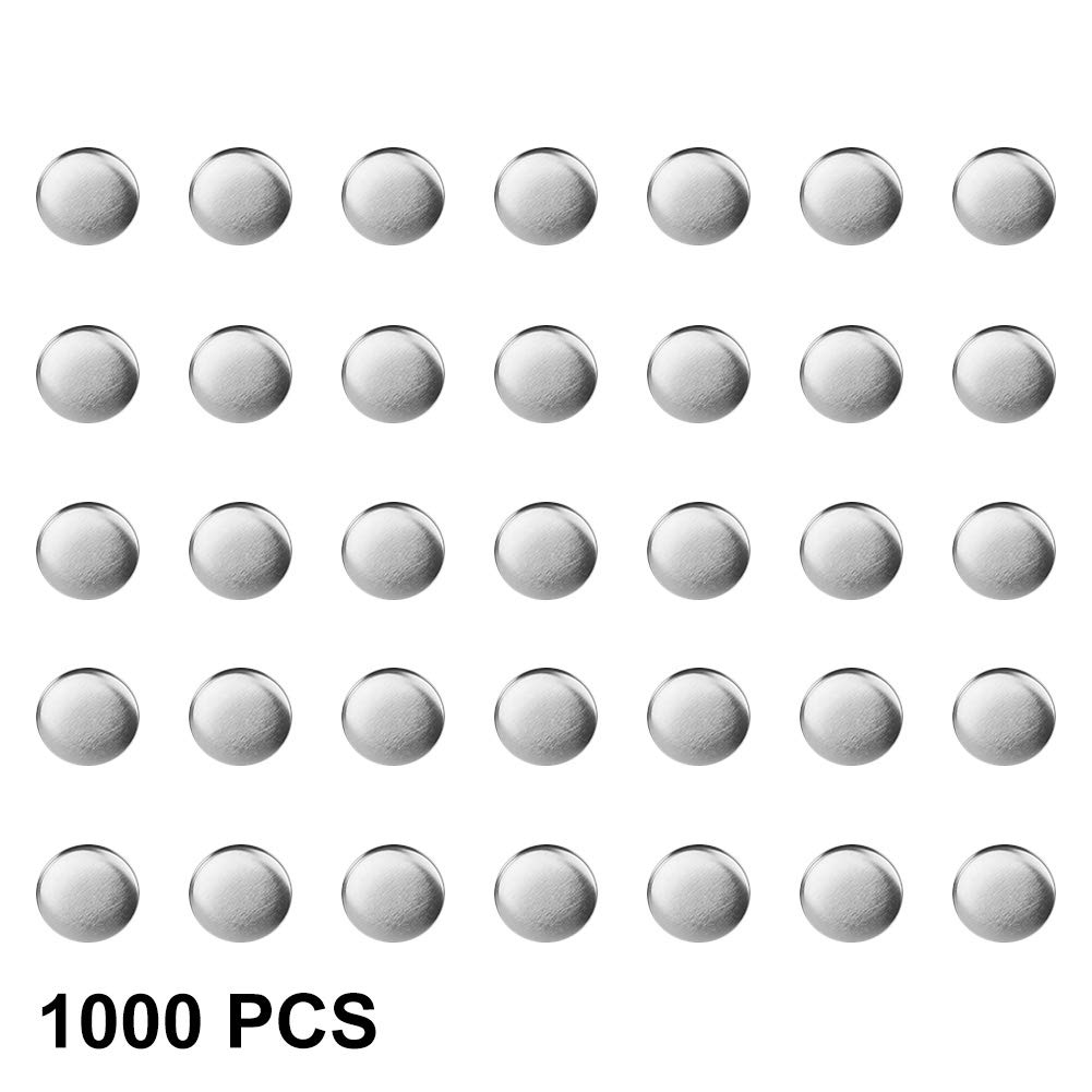 1000PCS spille a bottone, DIY Blank pin badge Button parti di consumo per Pro Button Maker 32mm GOTOTOP