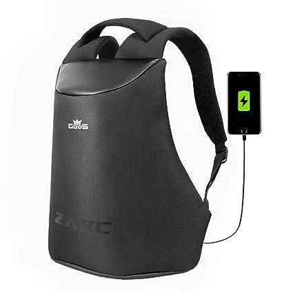 e98cd59a43b4 GODS Zarc Anti-Theft 15.6 inch Laptop Backpack (Black)