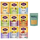Yogi Tea Best Sellers 9 Flavor Variety Pack with Whole Terra Turbinado Sugar (Pack of 9)