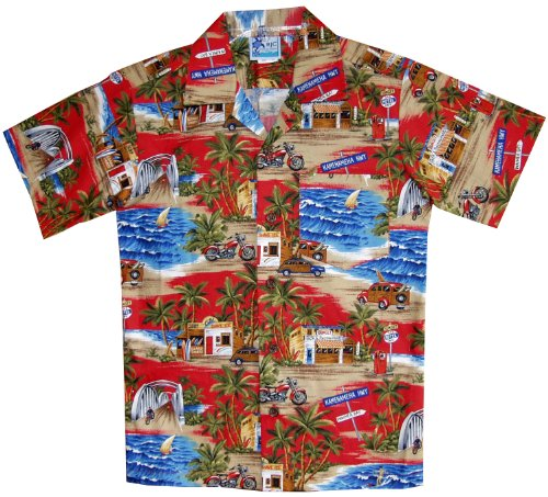 RJC Boys Shave Ice Shack Shirt in Red - 4 by RJC