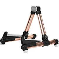 Mugig Upgraded A-Frame Folding Travel Instruments Stand (Gold)