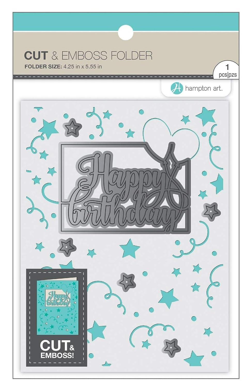 Hampton Art Cut /& Emboss Folder-happy Birthday