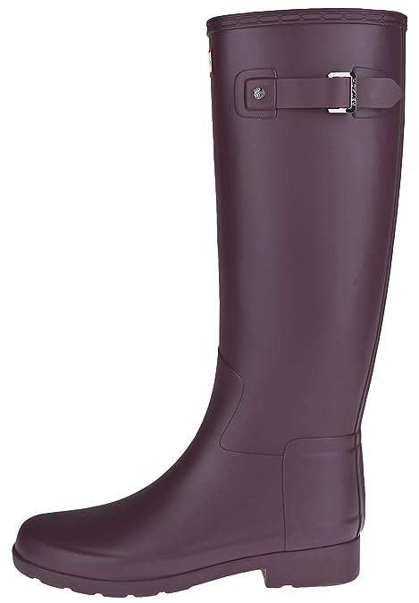 52468615e2e Hunter Woman Rubberboots Refined Tall Grey  Amazon.es  Zapatos y  complementos