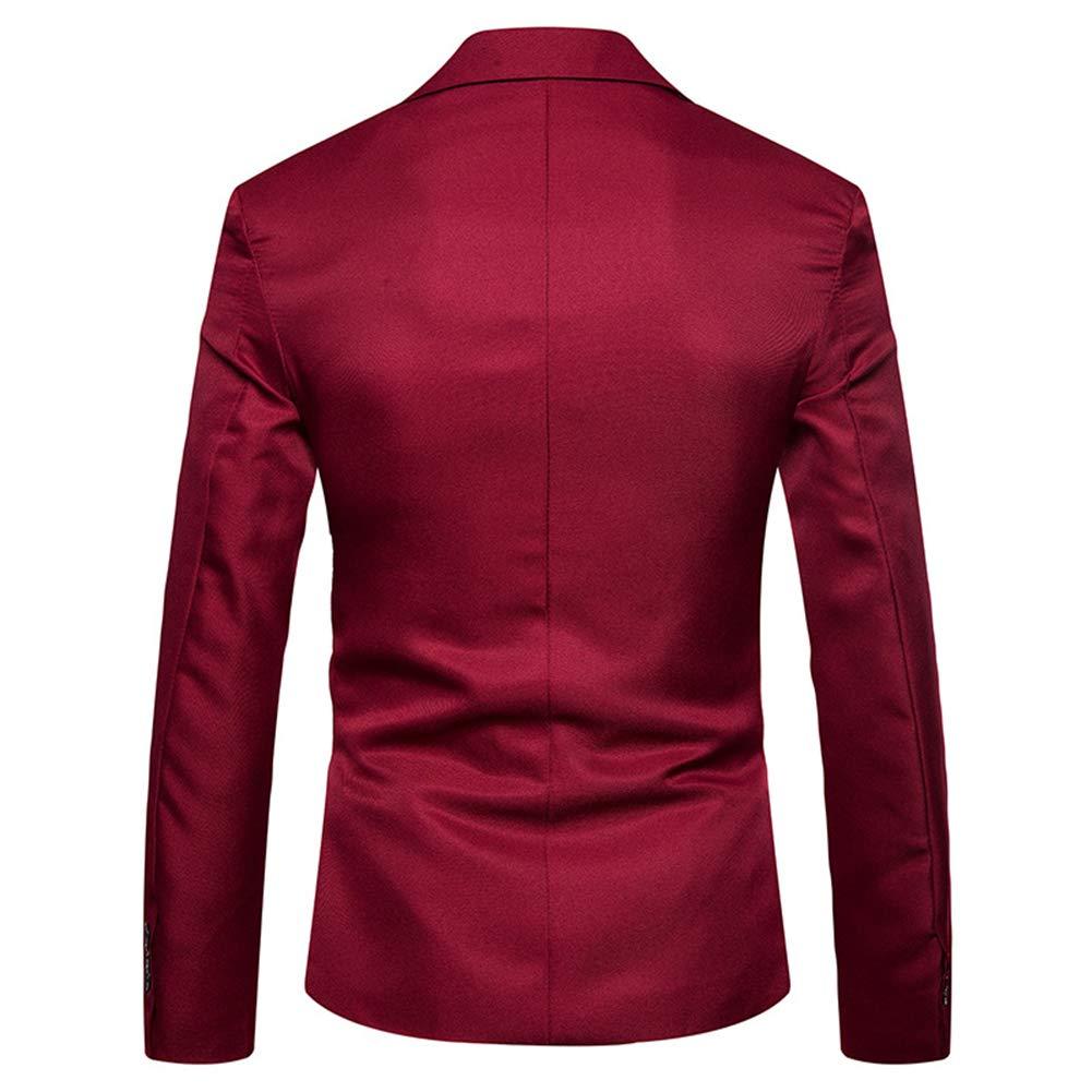 YOUTHUP Mens Blazer Business Jacket Morden Stylish Suit Jackets Prom Coat