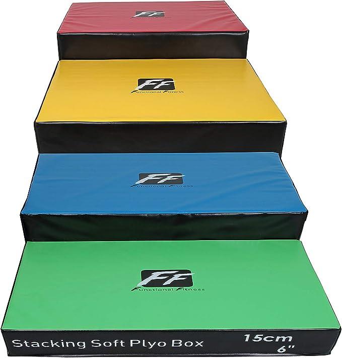 FunctionalFitness - Cajas Blandas apilables (15 cm, 30 cm, 45 cm y 60 cm de Altura), Full Set of 4 Heights: Amazon.es: Deportes y aire libre