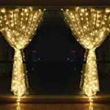 String lights for Window Curtain, 3M 304 LED Fairy Twinkle Starry Decorative Light for Indoor Outdoor Wedding Christmas…