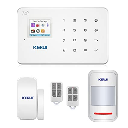 GSM 3G Alarm System Kit   KERUI G183 Wireless WCDMA DIY Home And Business Security  System
