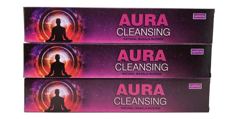 注目 Nandita Aura 3本パック クレンジング 天然マサラ香スティック - 3本パック (各15グラム) - Aura B07HT5N9DV, ササヤマシ:d6f3aca1 --- ciadaterra.com