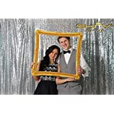 ON SALE 7FTx7FT Sequin backdrops, Sequin photo booth backdrop, Party backdrops, Wedding backdrops, sparkling backdrops , Christmas decoration (7FTX7FT, Silver)