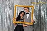 ShinyBeauty 7FTx7FT Sequin backdrops, Sequin photo booth backdrop, Party backdrops, Wedding backdrops, sparkling backdrops, Christmas decoration (7FTX7FT, Silver)