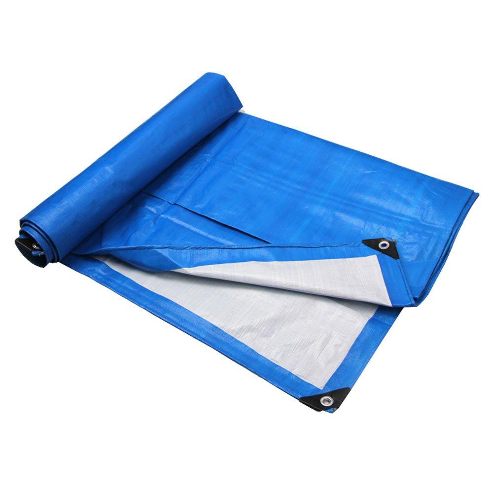 Tarpaulin HUO PE-spinnende Plane, Weicher Mehrzweckregenstoff, Anti-UV DIY-Material (Farbe   Blau, größe   3  4m)