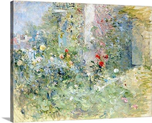 Berthe Morisot Premium Thick-Wrap Canvas Wall Art Print entitled The Garden at Bougival, 1884 20