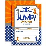 amazon com 24 jump bounce fill in kids birthday party invitations