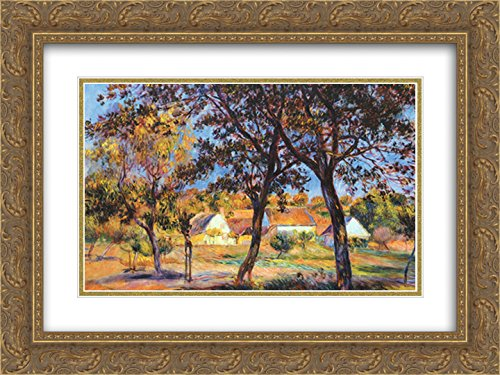 The Outskirts of Pont-Aven 2X Matted 15x18 Gold Ornate Framed Art Print by Auguste Renoir