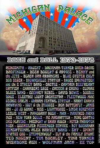Michigan Palace Detroit Rock Venue Poster 1973-1976 19