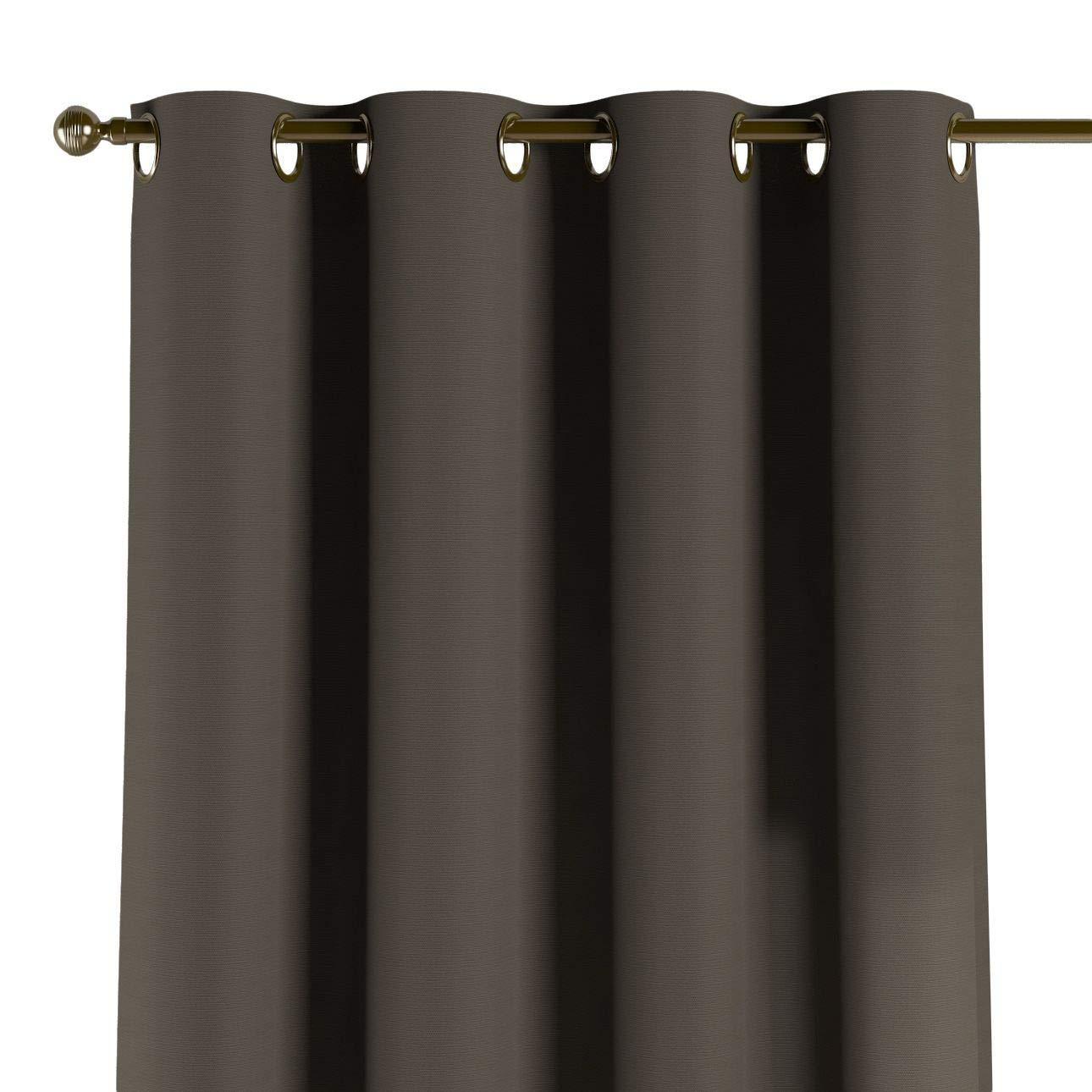 Dekoria Ösenschal Dekoschal Blickdicht 1 Stck. 130 × 260 cm Shadow Grey Maßanfertigung möglich