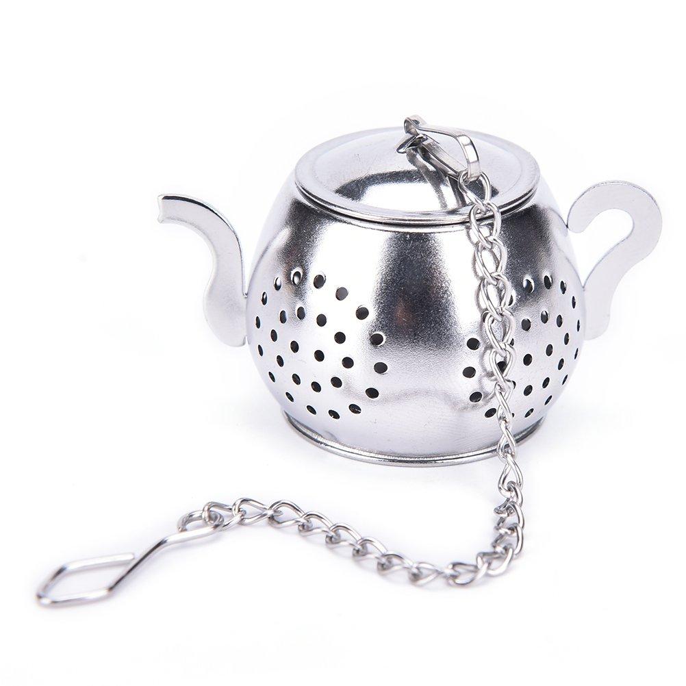 Funnytoday365 Stainless Steel Tea Infuser Loose Leaf Tea Strainer Herbal Spice Infuser Filter Rocket Teapot Heart Oval Circular Tea Tools by FunnyToday365 (Image #2)