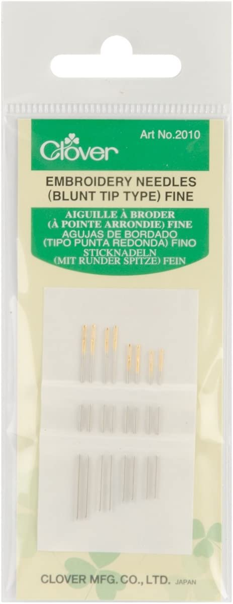 Clover Huck Embroidery Needles-3//Pkg