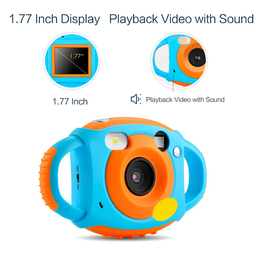 Digital Camera for Kids, HD 1080P Kids Camera with Flash Microphone WiFi, Soft Plastic Anti-Drop, 7 Color Filter Effect Kids Video Camera for Girls/Boys by GordVE (Image #6)