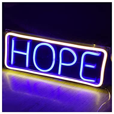 Neon Sign Lights Art Wall Decorative Lights (Hope)