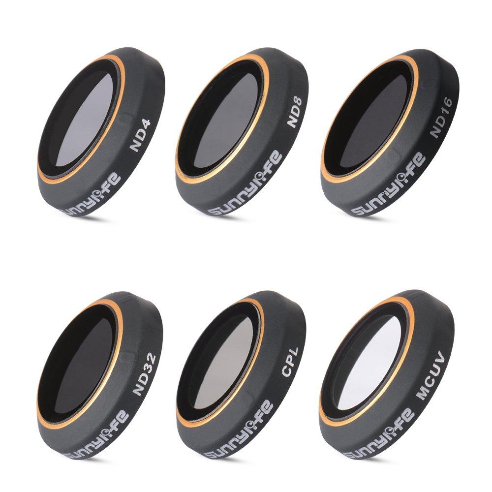 XCSOURCE ND4/ND8/ND16/ND32 Neutral Density Polarizer CPL MC-UV Lens Filter Set Camera Lens Accessory Kit for DJI Mavic Pro Drone FPV Camera RC584
