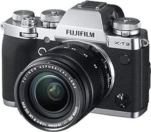 Fujifilm X-T3 Mirrorless Digital Camera w/XF18-55mm Lens Kit – Silver