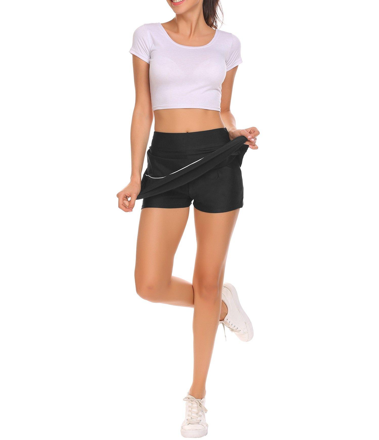 Shine Mini Skirts Skorts For Active Sports